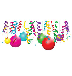 A balloon background with streamers vector