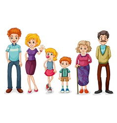 A big happy family vector image