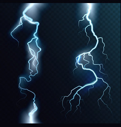 Abstract electric blue lightning two vector