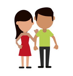 avatars of traditional couple icon image vector image