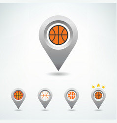 basketball pin vector image