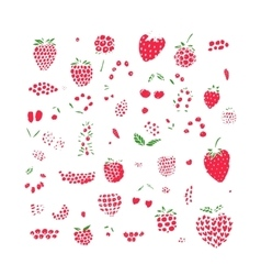 Berries collection sketch for your design vector image