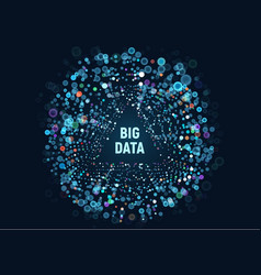 big data visualization the vector image