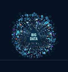 big data visualization vector image