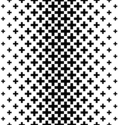Black and white greek cross pattern background vector