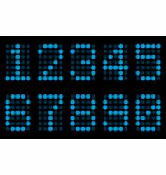 blue digits for matrix display vector image