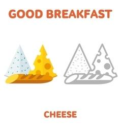 breakfast 1205 elements 10 vector image