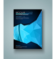 brochure template flyer design and depliant cover vector image