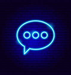 Chat bubble neon sign vector