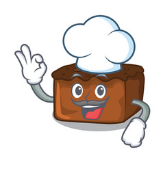 Chef brownies character cartoon style vector