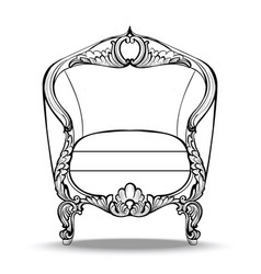 Classic imperial baroque round armchair vector