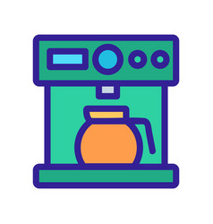 Coffee machine icon isolated contour vector