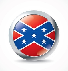 Confederate flag button vector image