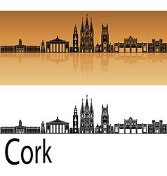 Cork skyline in orange vector