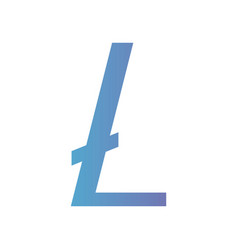 cryptocurrency litecoin symbol isolated icon vector image