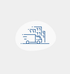 delivery service thin line icon with delivery vector image
