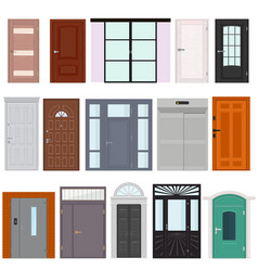 doors doorway front entrance lift entry or vector image