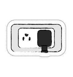 Electric plug icon vector