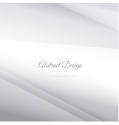 Elegant minimal silver white background vector
