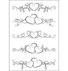 Elegant valentine design vector