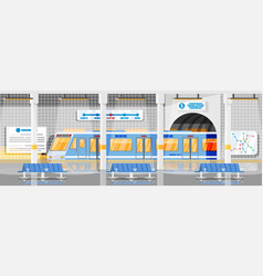 empty subway station interior vector image