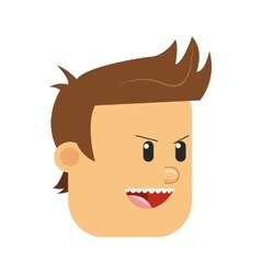 Face competitive man icon vector