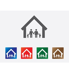 Family set icon vector image