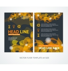 Flyer Design Templates Abstract Geometric Orange vector image