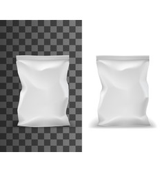food package mockup pouch bag white sachet pack vector image
