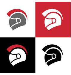 Gladiator motorcycle helmet logo vector