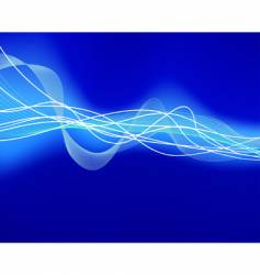 glowing water waves vector image