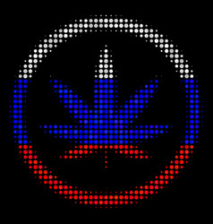 Halftone russian cannabis icon vector