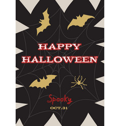 Happy halloween poster greeting card vector