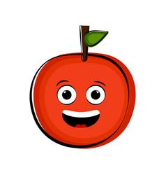 happy orange cartoon character emote vector image