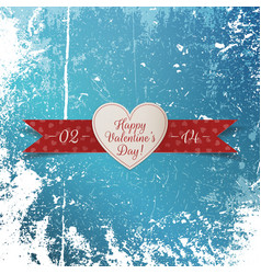 Heart Valentines Day realistic Banner with Text vector