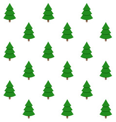 holiday background seamless xmas green tree vector image