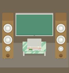 home cinema flat style vector image