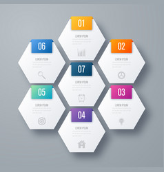 Infographics seven options vector