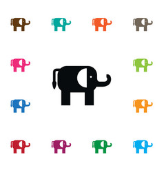 Isolated trunked animal icon indian elephant vector