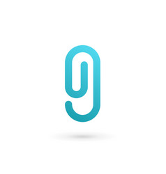 Letter g number 9 clip logo icon design template vector