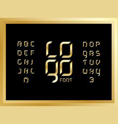 logo gold alphabet letters vector image