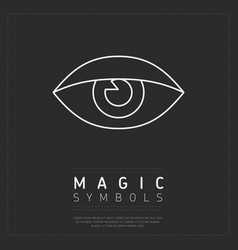 magic symbol icon on gray vector image