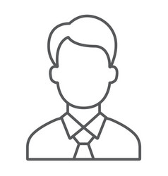 manager thin line icon office and work vector image