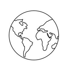 map world planet vector image