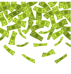 Money rain falling dollars banknotes finances vector