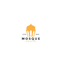 Mosque simple minimalist logo icon vector