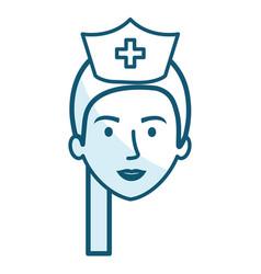 nurse professional woman of health vector image