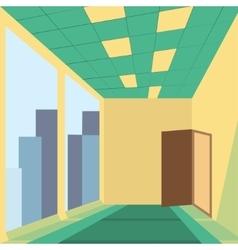 office with door vector image