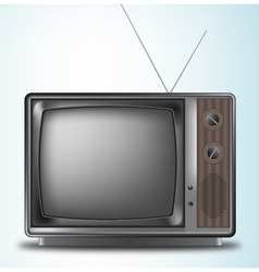 Old retro television on a blue background vector image
