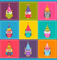patchwork background with cute carttoon colorful vector image